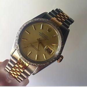 Rolex Datejust 36mm men's custom diamond bezel
